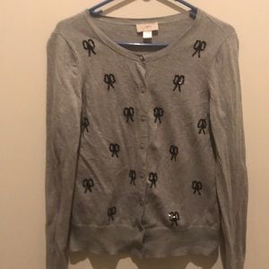 Loft Grey Cardigan Sweater